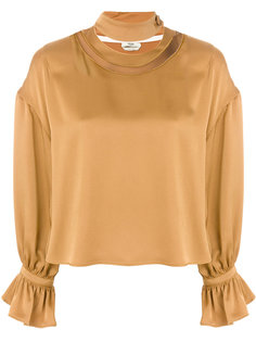 metallic ruched blouse Fendi