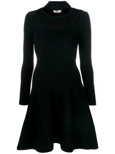 приталенное расклешенное платье  Fendi