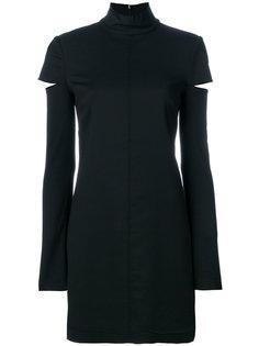 платье мини с длинными рукавами  Helmut Lang