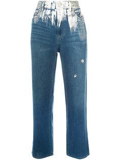 джинсы с серебристой вставкой Tsumori Chisato