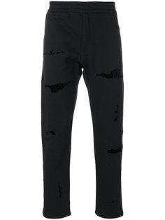 спортивные брюки с потертой отделкой Alexander McQueen