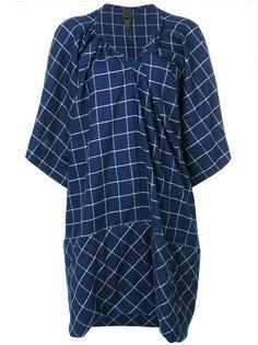 check embroidered dress Bernhard Willhelm