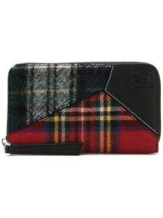 tartan logo embossed wallet Loewe