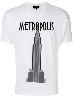 футболка с принтом Metropolis Emporio Armani