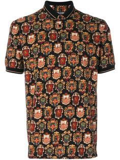 рубашка-поло с принтом гербов Dolce & Gabbana