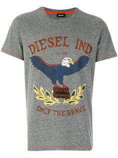 футболка с принтом орла Diesel