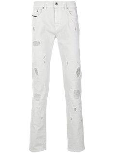 джинсы узкого кроя с эффектом потертости Diesel Black Gold