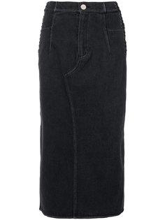 джинсовая юбка со шнуровкой 3.1 Phillip Lim