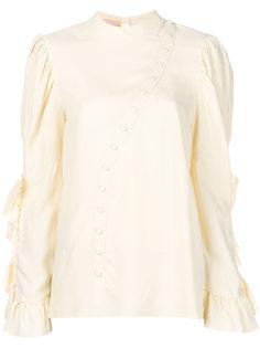блузка с асимметричной планкой  Drome
