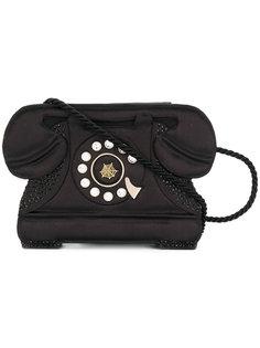 клатч с изображением телефоном Charlotte Olympia
