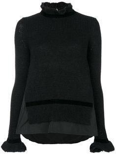 свитер с высоким воротом и оборкой  Moncler