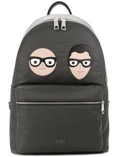 рюкзак с заплатками в виде дизайнеров Dolce & Gabbana