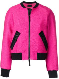 куртка-бомбер с нашивкой  Emporio Armani