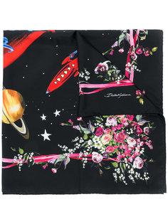 шарф с цветочным принтом Love Dolce & Gabbana