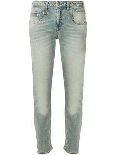 джинсы скинни с выцветшим эффектом R13