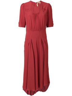 асимметричное платье со сборками  Nº21