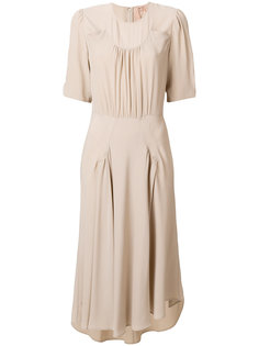 асимметричное платье с оборками Nº21