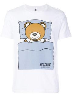 футболка с принтом спящего медвежонка Moschino