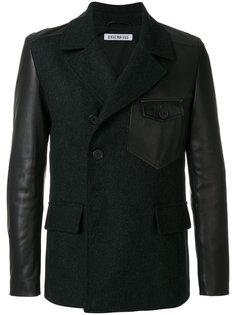 классический пиджак с панельными дизайном Dirk Bikkembergs