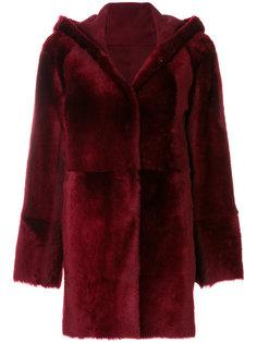 hooded reversible coat Drome