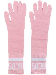 трикотажные перчатки с логотипом Gcds
