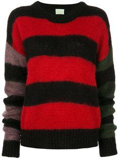 объемный свитер в полоску Aries