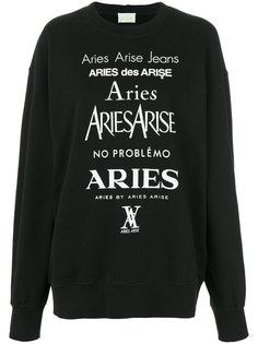свитер с принтом логотипа Aries