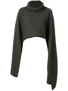 draped roll neck cape Eudon Choi