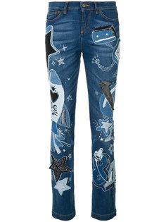 джинсы с аппликацией Dolce & Gabbana