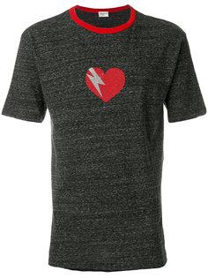 футболка с принтом сердца Saint Laurent