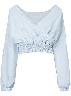 укороченная блузка с V-образным вырезом  Cityshop