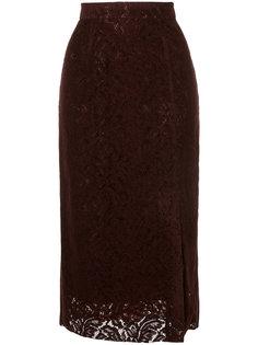 floral lace midi skirt Cityshop