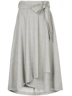 асимметричная юбка в клетку  Cityshop