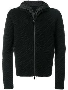 многослойная куртка с капюшоном Emporio Armani