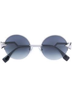 круглые солнцезащитные очки со стразами Fendi Eyewear
