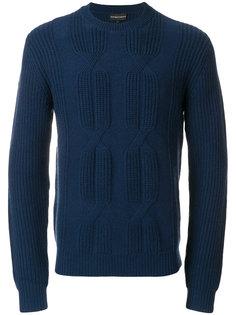 свитер крупной вязки Emporio Armani