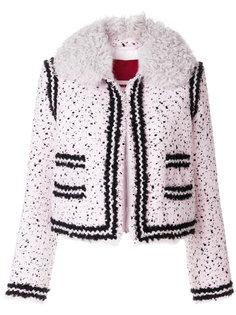 куртка букле с воротником под овчину Moncler Gamme Rouge