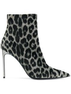 леопардовые ботинки на шпильке Stella McCartney
