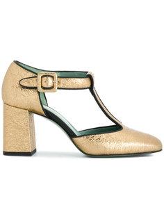 туфли-лодочки с ремешками Paola Darcano