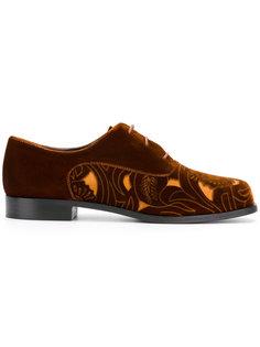 туфли на шнуровке с вырезными деталями Emporio Armani