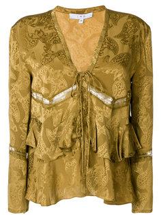 блузка с узором пейсли и оборками Iro