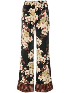 брюки-палаццо с цветочным принтом Twin-Set
