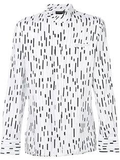 рубашка с абстрактным принтом Emporio Armani