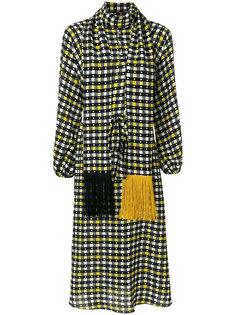 платье миди с длинными рукавами Duro Olowu