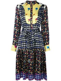 платье с узором и длинными рукавами Duro Olowu
