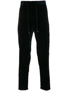 бархатные брюки на шнурке Emporio Armani