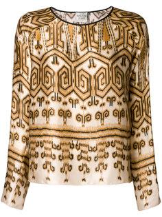 блузка с принтом Forte Forte