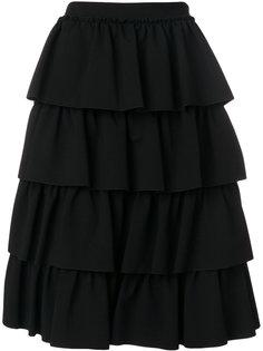 А-образная ярусная юбка  Simone Rocha