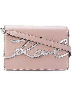 сумка на плечо с логотипом Karl Lagerfeld
