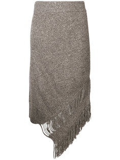 асимметричная юбка с бахромой  Stella McCartney